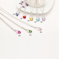 Wholesale Sweater Chain Necklaces Cheap - New Bottles And Love Crystal Pendant Necklace Cheap Diamond Alloy Necklace Sweater Necklace Locket Jewelry S143