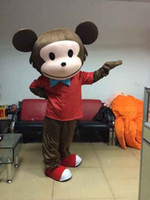 Wholesale Curious George Monkey Mascot Costume - monkey mascot costume for adults Curious George Monkey Mascot Costumes Cartoon Fancy Dress Halloween Party Costume Adult Size Free Shipping