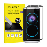Wholesale Curve Body - 9H Tempered Glass for Samsung Galaxy S8 S8 Plus 3D Curved Surface Full Cover Protective Film for Samsung S8 Screen Protector