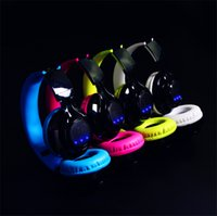 Wholesale Bluetooth Headphones Pro - New Bluetooth sports Headphones LED lighting Wireless stereo headsets Free shipping Foldable Earphones For pro gaming