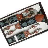 Wholesale Clips For Braces - Wholesale-Fashion 3.5*120cm Men Suspenders Y-Shape Jacquard 6 Clips Braces Elastic Belt Adult Suspenders Bretelles Hommes for Trouser