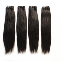 1b extensiones de cabello mixtas al por mayor-100 trama del pelo humano brasileño recto haz de pelo extensiones # 1B Negro # 2 # 8 Brown # 613 Rubio Mix Longitudes armadura brasileña del pelo 12