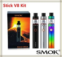 Wholesale Ego 5ml - SMOK Stick V8 Kit 3000mAh Battery 5ml Top Filling Airflow Control TFV8 Big Baby Atomizer Tank vs eGo aio