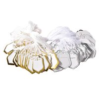 Argositment Sale-1000 Pack Gold Silver White String Jewelry Preço de varejo Tags