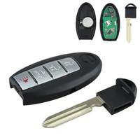 anahtarsız giriş değiştirme fobı toptan satış-Marka Yeni 4 Düğmeler Araba Anahtarsız giriş Uzaktan Ateşleme Anahtar Fob için Yedek KR55WK48903 AUP_41M