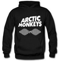 macaco homem suéter venda por atacado-Arctic Monkeys Hoodies Homens Moletom Com Capuz Homem Camisola Para Homens Mulheres Onda de Som Indie Rock And Roll Banda Roupas Marca Streetwear