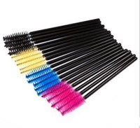 Wholesale Disposable Eyeliner Applicators - High Quality 30000pcs lot Disposable Makeup Brush Curl Eyelash Mascara Wands Applicator Tinting Brushes Eyelash Extension Brush