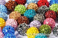 12mm 100pcs / lot mélangé multi-couleurs Crystal Shamballa Bracelet Bracelet Collier Beads bijoux making.Hot spacer perles Lot! Rhinestone r2452 w62