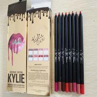 Wholesale Black Lighting Per - kylie Jenner cosmetics 12pcs per Lot Waterproof Lip Liner Pencil Pen Long Lasting Lipliner Lipsticks Kit