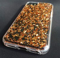 Wholesale Double Foil - Gold Foil Shell Fashion 4 Color Phone Case Protective Cover Two Materials Double Protectiver Cell Phone Back Covers Cases