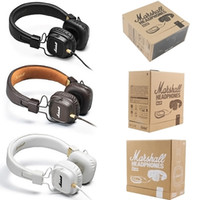 Wholesale Wholesale Cell I Phones - Marshall Major I 1.0 Headphones DJ Studio Headphones Deep Bass Noise Isolating headset Monitorring for iphone Samsung AAA quality