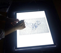 Wholesale Led Trace A4 - Mini USB A4 Ultra Thin LED Animation Drawing Table Pad Light Box Pad Drawing Tracing Light Box USB Ultra Thin drawing pad stencil board #07