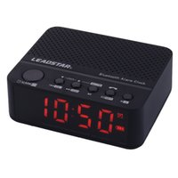 Wholesale mini speaker mp3 player amplifier online - LEADSTAR Portable Mini Wirelss LED Alarm Clock Bluetooth Speaker Hands free Calls FM Radio Amplifier MX DHL Shipping
