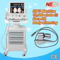 Wholesale Ultrasound Eye - Portable HIFU machine wrinkle removal face lift machine High intensity focused ultrasound hifu body and face removal eye angla