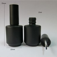 Wholesale Empty Nail Polish Enamel Bottle - FEDEX Free Shipping- 50 x 15ml Black Empty Nail Polish Bottle, 15cc Black nail enamel bottle, black glass bottle with brush cap