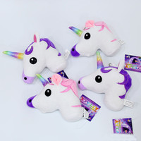 Wholesale Cheap Toy Horses - High quality foreign hot Unicorn rainbow horse cartoon doll plush toy Unicorn pendant cheap bag accessories