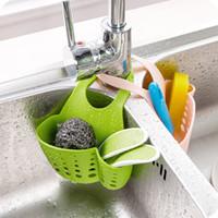 Wholesale Hanging Basket Kitchen - Portable Home Kitchen Hanging Drain Bag Basket Bath Storage Tools Sink Holder