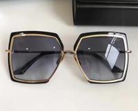 Wholesale Len Cases - Women narcissuss Sunglasses Gold black grey len oculos de sol feminino designer brand Vintage oversized Sunglasses New with case