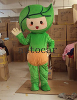 Wholesale making green products resale online - Green leaves baby Cartoon Character Costume mascot Custom Products custom made