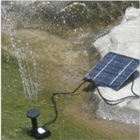 Wholesale Outdoors Fountains - 7V 1.2W Solar Power Panel Submersible Fountain Pond Pool Water Cycle Pump Outdoor Garden Brushless Decorations