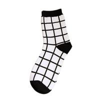 Wholesale Happy Leopard - Wholesale- Cotton Striped Plaid Happy Future White Black Leopard Socks Men Women Female Socks