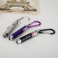 Wholesale Outdoor Infrared Beams - Fashion 3 in 1 Outdoor Aluminum Carabiner Keychain Keyring Laser Pointer Beam UV Infrared Mini Torch LED Flashlight