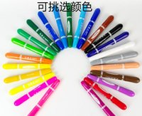 Wholesale Crayons Toxic - Manufacturers selling bulk rotary water soluble silky crayons painted colorful dazzle painting stick non-toxic oil painting stick