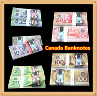 Wholesale Poker Decorations - 500Pcs Canada Banknotes Set 100 50 20 10 5 Bank Staff Training Learning Banknotes Poker Chip Arts Gifts Home Decoration Arts Crafts