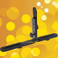держатель видеокамеры оптовых-Двойной двойной L-образный металлический кронштейн-держатель / крепление для видеокамеры Видеокамера Speedlite Flash TTL Cord Light Stand