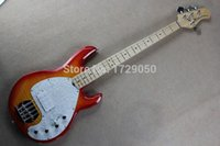 Wholesale Ernie Bass - Wholesale-Free shipping Real photos High Quality Ernie Ball Musicman Sting Ray 4 Strings Active Pickup CS Color Electric Bass Guitar 1111