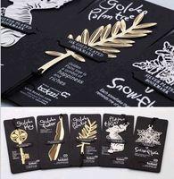 Wholesale Die Cut Plastic - Romantic Golden Leaves Pop Funko Metal Puzzle Die Cutting Dies Stencil For DIY Scrapbooking Album Card Paper Decor Craft Gadgets