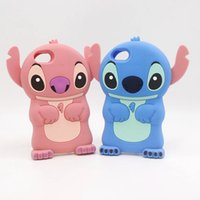 Wholesale Iphone 4s Soft Stitch Cases - 3D Stitch Lilo Movable Ear Cartoon Soft Silicone Rubber Gel Case For iphone 4S 5 5S SE 6 6S 7 Plus Samsung Galaxy Ace4 G313H Core 2 Core2 S3