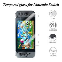 Wholesale Nintendo Screen Protectors - Real Tempered Glass 9H 2.5D Anti-Knock Scratch Proof Screen Protector Film for Nintendo Switch NS 2017