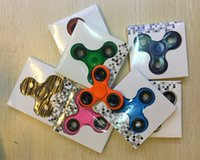 EDC Fidget dedo spinner brinquedo 6 cores Anti-ansiedade Magic Decompression Toy Adults Stress Relief Kids Toy Gift Fast DHL Shipping