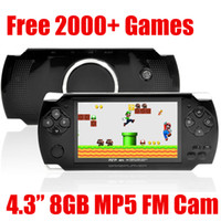 """Wholesale Mp3 Mp4 Classic - Portable 4.3"""" LCD 8GB MP5 Game Player 1.3MP Camera Classic PMP MP3 MP4 Multimedia Video Console Recorder Ebook free 2000 Games FM TV out"""