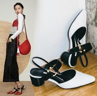 Wholesale Stylish Women Sandals - Hot sale 2017 summer women's shoes black,white Sexy Casual Woman sandals,stylish and comfortable buckle PU patchwork contracted female sanda