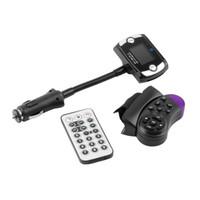 télécommande lcd achat en gros de-Lecteur MP3 de voiture sans fil Bluetooth Transmetteur FM Modulateur USB Del LCD Volant Télécommande