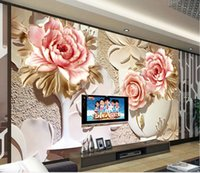 Photo Customize Size 3D Colorful Three   Dimensional Flower Murals TV Wall  Decoration Painting Wallpaper For Walls 3 D For Living Room UK Part 92