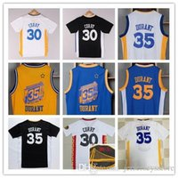 Wholesale Cheap Black Clothing - New Arrival 35 Kevin Durant Chinese Jersey blue white black yellow 30 Curry Shirt Stitched Jerseys clothing cheap giants Free Shipping