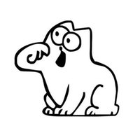 Wholesale Gas Cover Stickers - Hungry Simon's Cat Bowl JDM Decal Funny Gas Fuel Tank Cap Cover Vinyl Sticker For Car Truck SUV Window Bumper Wall Glass Laptop