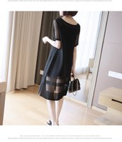 Wholesale Temperament Fashion Shop - 2017 new hot fashion summer women dress grid temperament show thin long dress free shopping