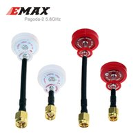 Wholesale Sma Plug - 1Pair EMAX Original Pagoda 2 5.8ghz fpv antenna RHCP LHCP 50mm 80mm SMA Plug remote control antenne for FPV