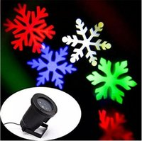 pared de luz de copo de nieve al por mayor-2016 Christmas Moving Sparkling LED Snowflake Landscape Proyector láser Lámpara de pared Luz de Navidad White Snow Sparkling Landscape Proyector Luces