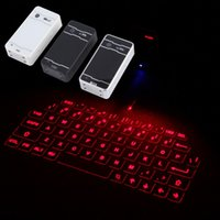 Freeshipping NOVO Wireless Bluetooth Laser Virtual Projection teclado para iPhone iPad Tablet Laptop Android Smart Phone Wholesale