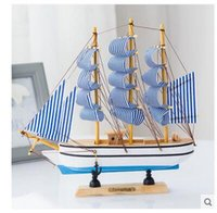 Wholesale Handicraft Fan - Naughty gifts pirate ship sailing USA style real wood decoration model wooden handicraft furnishing articles creative ship model