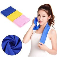 Wholesale Pva Magic Towel - Color Magic Cold Towel Exercise Fitness Sweat Summer Outdoor Sports Ice Cool Towel PVA Hypothermia 90x35cm Cooling Towel