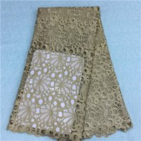 Wholesale Swiss Voile Lace Styles - simple style Embroidery Lace Fabric African hollow out swiss voile lace fabric