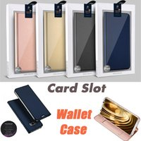 Wholesale Iphone Filp Cases - For Samsung S8 Plus UltraThin TPU Drop Resistant Filp Cover Card Slots Wallet Case For iPhone 8 7 Plus 6 6S SE 5S 5 Retail Package