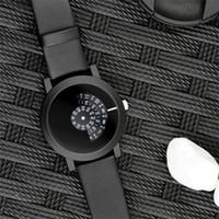 Wholesale Digital Camera Orange - 2017 creative design wristwatch camera concept brief simple design special digital discs hands fashion quartz mens watches
