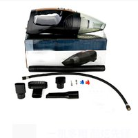 Wholesale Measuring Tire Pressure - Wholesale-2016 New Four in one multifuction Car vacuum cleaner +Measuring tire pressure illumination Inflator Car accessories